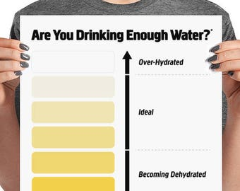 Urine Color Chart | Urine Color Chart Etsy