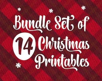 christmas printable bundle tartan decor set meaning of christmas joy printable monthly set christmas town digital christmas diy set