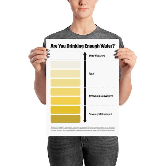 Pipi-Farbkarte Wasser Aufnahme Diagramm Urin Farbkarte Pee   Etsy