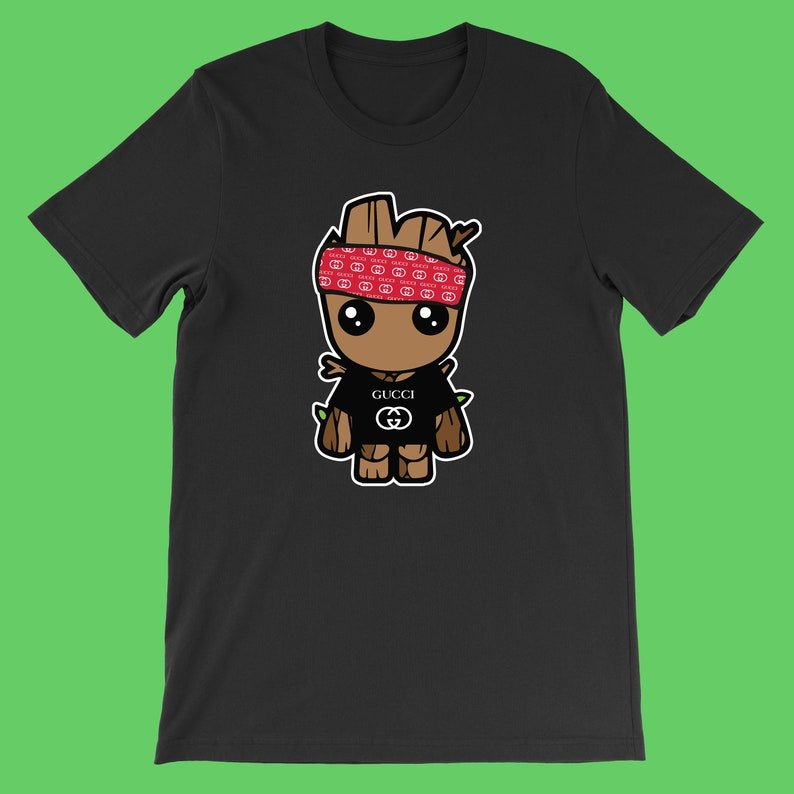 af0a13690f060f Baby Groot Gucci T-Shirt