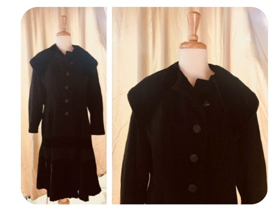 Velvet Wool 30s Swing Coat