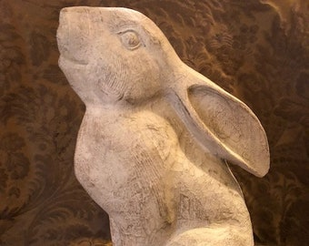 Mr. Bunny Rabbit Hare made of Faux Wood