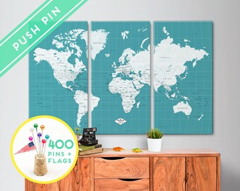Items similar to Large Personalized Canvas World Map - Blue ... on world maps history, world maps religion, old world map sale, world maps france, world maps software, world map globe sale, world maps games, world maps art, world maps furniture, world maps books,
