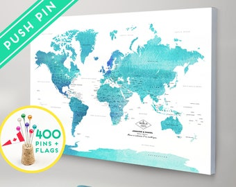 world map with pins etsy