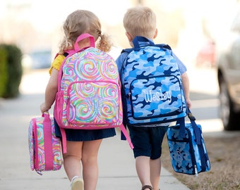 Monogrammed Preschool Backpack, Toddler Backpacks, Girls and Boys Backpacks