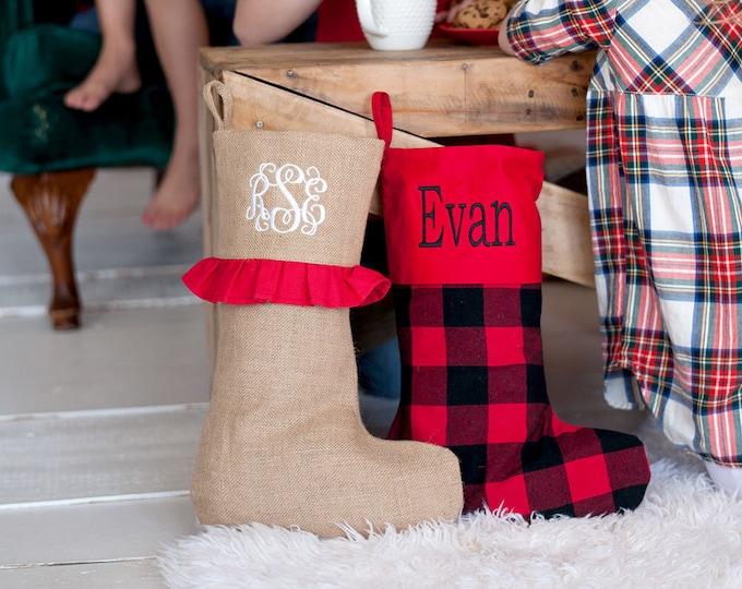 Monogrammed Christmas Stockings, Christmas Stockings, Christmas Stockings, Holiday Decor, Personalized Christmas Stockings, Christmas Decor