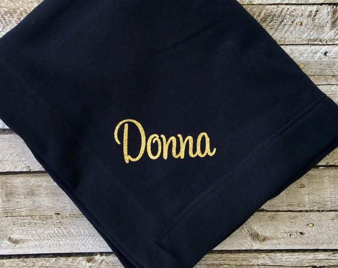 Monogram blanket, Monogrammed blanket, Personalized Blanket, Embroidered Blanket, Wedding Blanket, Bridesmaid Blanket, Custom Blanket