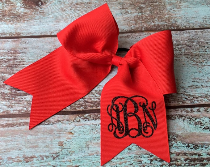 Monogram Cheer Bow, Hair Bows, Cheer Bows, Monogrammed Hair Bow, Big Cheer Bow, Monogrammed Gifts, Cheerleading Hair Bows