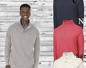 Monogrammed Falmouth Quarter Zip Pullover, Charles River Quarter Zip Pullover, Monogram Pullover, Gifts for Him, Monogrammed Pullover