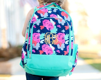 Monogrammed Backpack, Bookbag, Personalized Backpack, Back to School, Preppy Backpack, School Supplies, Girls Backpacks, Boys Backpacks