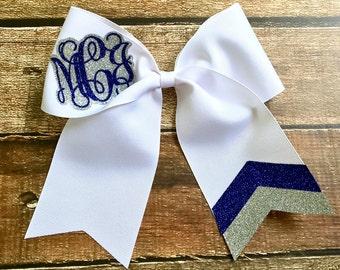Monogram Cheer Bows, Glitter Cheer Bows, Hair Bows, Monogrammed Gifts, Big Cheer Bow, Cheer Camp Bows for Cheer, Team Discounts