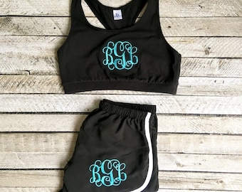 Monogram Sports Bra, Monogrammed Gifts, Girls Sports Bra, Ladies Sports Bra, Cheer Sports Bra, Team Discounts