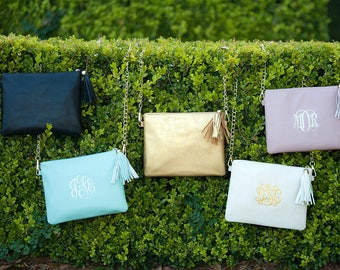 Monogrammed Clutch, Kendall Crossbody Purse, Monogrammed Purse, Gifts for Her, Bridesmaid Gifts, Mother's Day Gifts, Monogrammed Gifts