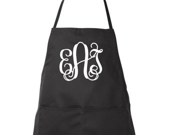 Monogrammed Apron, Women's Apron, Monogrammed Gifts,  Full length apron, Personalized Restaurant Aprons, Wholesale, Bulk Order Discounts
