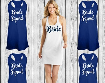 Bride Swimsuit Coverup, Bridesmaid Swim Cover Ups, Monogrammed Beach Coverup, Tank dress, Bridesmaid Gifts, Cruise, Wedding, Bachelorette