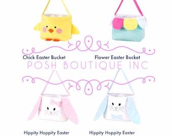 Easter Basket, Personalized Easter Basket, Hippity Hoppity Easter Basket, Chick, Flower, Character Easter Baskets