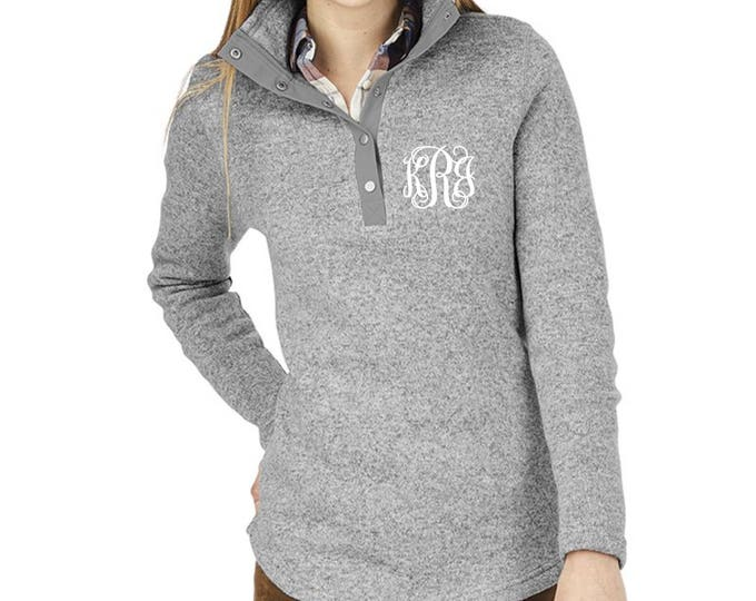 Monogrammed Charles River Hingham Tunic, Hingham Tunic Fleece, Monogrammed Sweater, Charles River Hingham Sweater