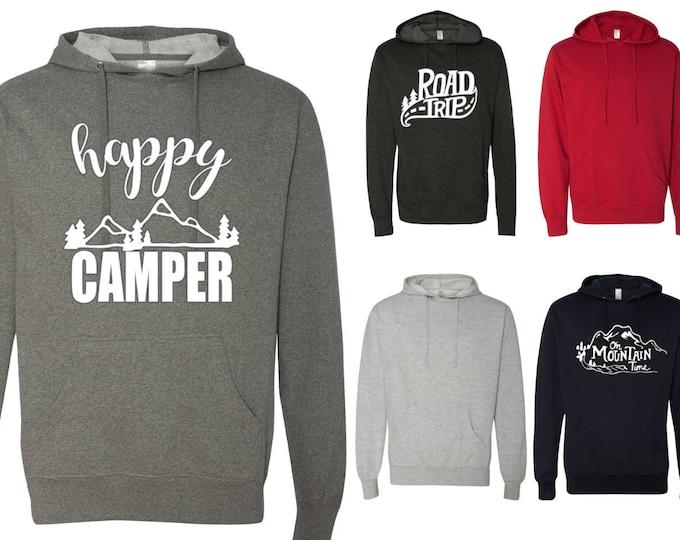 Camping Hoodie, Lightweight Camping Hoodie, Camping Trip Hoodie, Road Trip Hoodie, Bridesmaid Gift, Camping Bachelorette Party