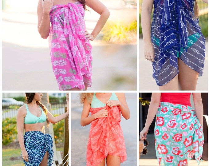 Beach Wrap, Sarong, Swimsuit Coverup, Beach Coverup, Bridesmaid Gifts, Bachelorette Party Gifts