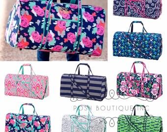 Monogrammed Weekender Bag, Duffle Bag, Summer Camp, Monogram Overnight bag, Kids duffle bags