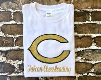 Custom Cheer Shirts, Cheer Camp T Shirt, Cheerleader T shirt, Monogrammed Tee shirt, School Spirit Tee Shirt, Custom Team Shirts