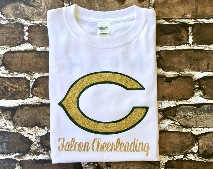 Custom Cheer Shirts, Cheer Camp T Shirt, Cheerleader T shirt, Monogrammed Tee shirt, School Spirit Tee Shirt, Custom Team Shirts