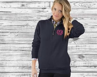 Monogrammed Sweatshirt, Quarter Zip Sweatshirt, Monogram Pullover Sweatshirt, Monogram Quarter Zip Sweatshirt, Quarter Zip Pullover