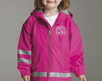 Toddler Rain Jacket - Monogrammed Rain Jackets for Toddlers - Toddler Charles River Rain Jacket