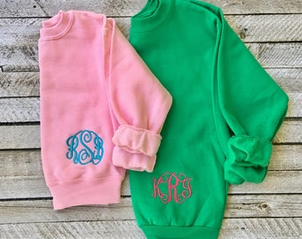 Monogrammed Sweatshirt - Monogram Sweatshirt - Monogrammed Shirt - Monogram sweater - Mother Daughter Sweatshirts - Gifts for Her