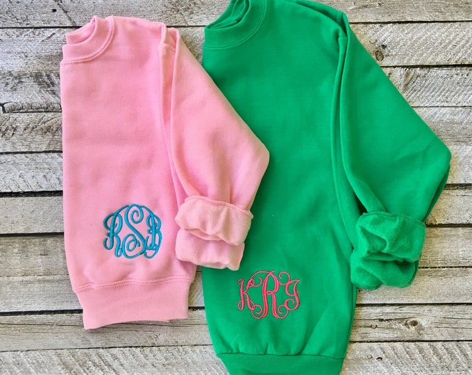 Monogrammed Sweatshirt - Monogram Sweatshirt - Monogram Pullover - Monogrammed Gifts, Gift under 20, Gift for her