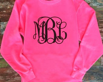 Monogram Sweatshirt, Monogrammed Sweatshirts, Monogrammed gifts for Her, Mother Daughter Shirts