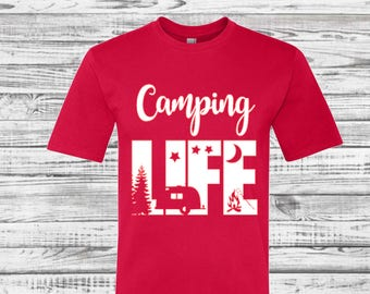 Custom Camping Shirts, Camping tee shirts, Camp Tees, Teepee, Road Trip, Camping Trip, Mountains, Hiking, Adventure, Road Trip Shirts