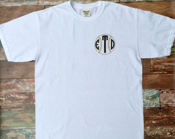 Monogram Baseball Shirt, Baseball mom shirt, Monogrammed Gifts, Monogram t shirt, Monogrammed Shirts