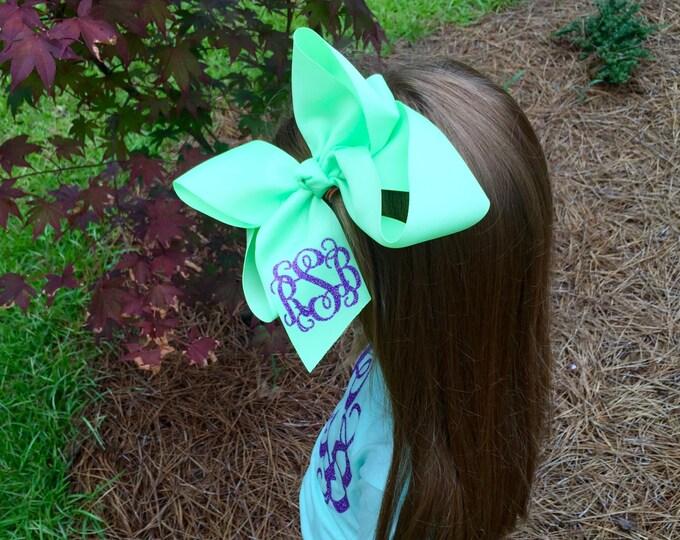 Hair Bows, Monogrammed Boutique Hair Bow, Monogram Hair Bows, Custom Hair Bow, Birthday Hair Bow, Monogram hair bow, girls hair bow