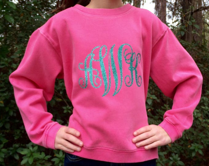 Girls Monogrammed Sweatshirt, Monogrammed Sweatshirt, Monogram Sweatshirt, Christmas gifts, Monogrammed gifts for girls, Gifts for Her