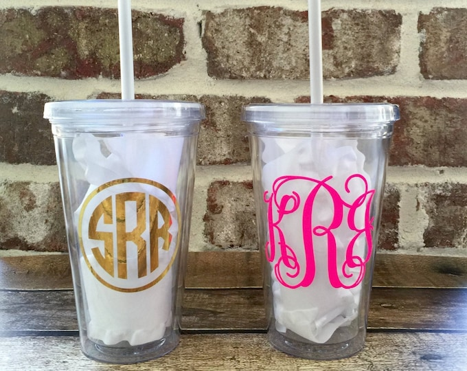 Monogrammed Tumbler, Monogrammed Cups, Bridesmaid Gifts, Team Gifts, Bulk Order Discounts