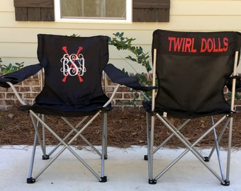 Personalized Chair, Custom Folding Chair, Twirl Competition chair, Tailgating Chair, Dance Team Chair, Personalized Chairs