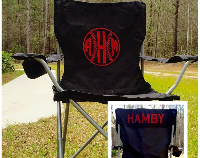 Monogrammed Chair, Camping Chair, Personalized Chair, Custom Folding Chair, Groomsman gifts, Coaches chair