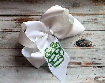 Monogram Hair Bow, Monogrammed Hair Bow, Monogrammed gifts for Girls, Hair Bows, Custom Hair Bows, Personalized Bows, Bulk order discounts