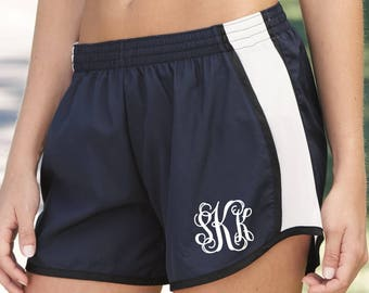 Monogrammed Running Shorts, Girls and Ladies Monogrammed Running Shorts, Cheer Team Shorts, Group Discounts, Bulk Order Pricing