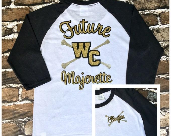 Future Majorette Shirt, School Spirit T shirt, Majorette T shirt, Baton t shirt, Twirler t shirt