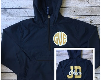 Monogrammed Jackets, Cheer Jacket, Custom Anorak Jacket, Pullover Rain Jacket, Cheer Team Jackets, Rain Jacket