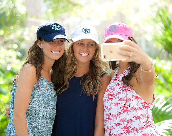 Monogrammed Baseball Cap, Monogrammed hats, Women's Baseball Caps, Monogrammed Gifts, Bridesmaid gifts, Gifts for Her