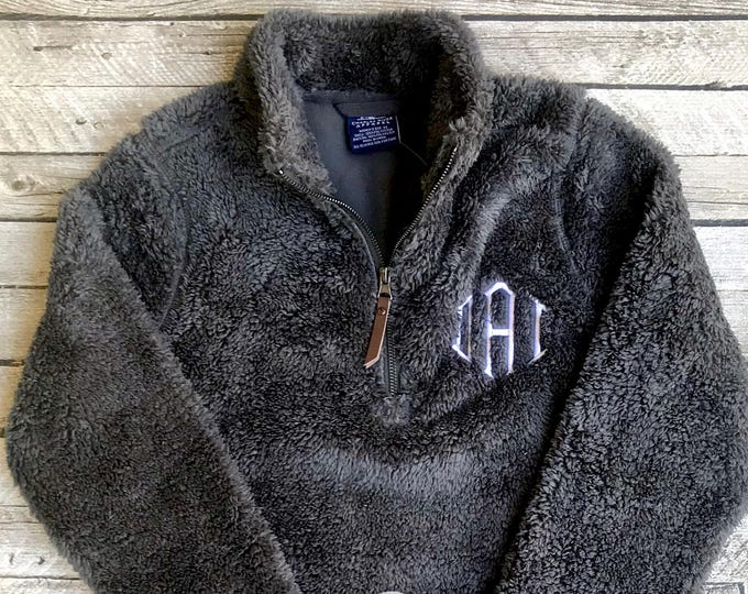 Monogrammed Sherpa Pullover, Men's Newport Fleece Quarter Zip Pullover, Charles River Quarter Zip Pullover, Gifts for Him