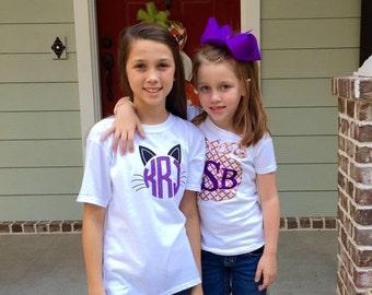 Halloween Shirt, Kids Halloween Shirt, Pumpkin, Cat, Monster T shirt, Halloween T-shirt, Children's Halloween Tee Shirt