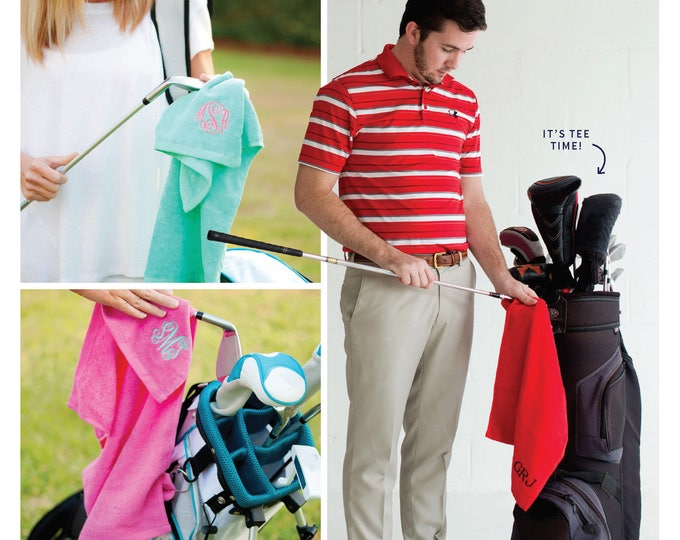 Monogram Golf Towel, Monogrammed Gifts, Monogrammed Golf Towels, Monogrammed Gifts for Men, Golf Towels, Personalized Golf Towels