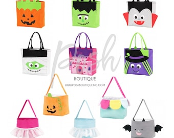Personalized Trick or Treat Bag, Monogrammed Trick or Treat bag, Halloween bag, Trunk or Treat, Halloween Treats