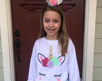 Unicorn Shirt, Girls Unicorn Shirt, Unicorn Tee Shirt, Toddler Unicorn Shirt, Unicorn Raglan, Unicorn Birthday Shirt