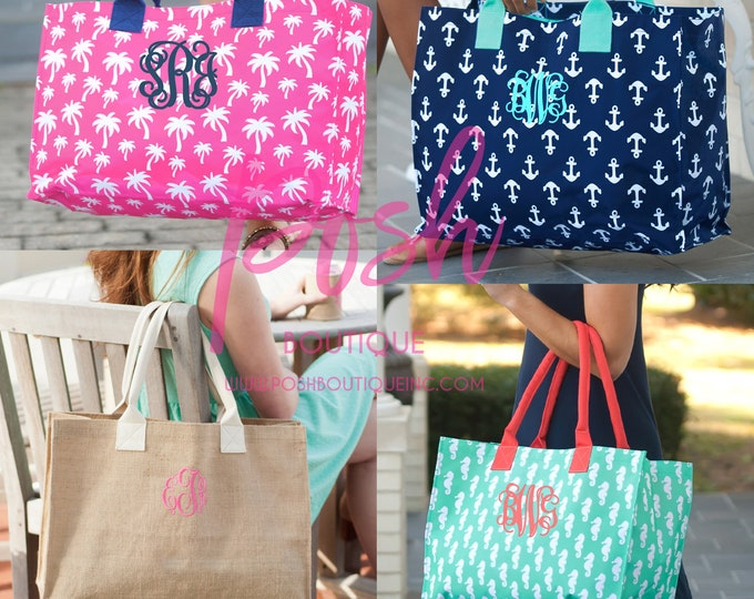 Monogrammed Burlap Tote Bag, Burlap Tote Bag, Personalized Tote Bag, Bridesmaid Gifts, Graduation Gifts, Teacher Gifts, Gifts for Her