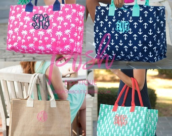 Monogrammed Tote Bag, Personalized Tote Bag, Bridesmaid Gifts, Graduation Gifts, Teacher Gifts, Gifts for Her